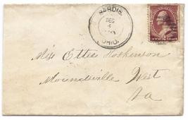 c1881 Sardis, OH Vintage Post Office Postal Cover - $9.95