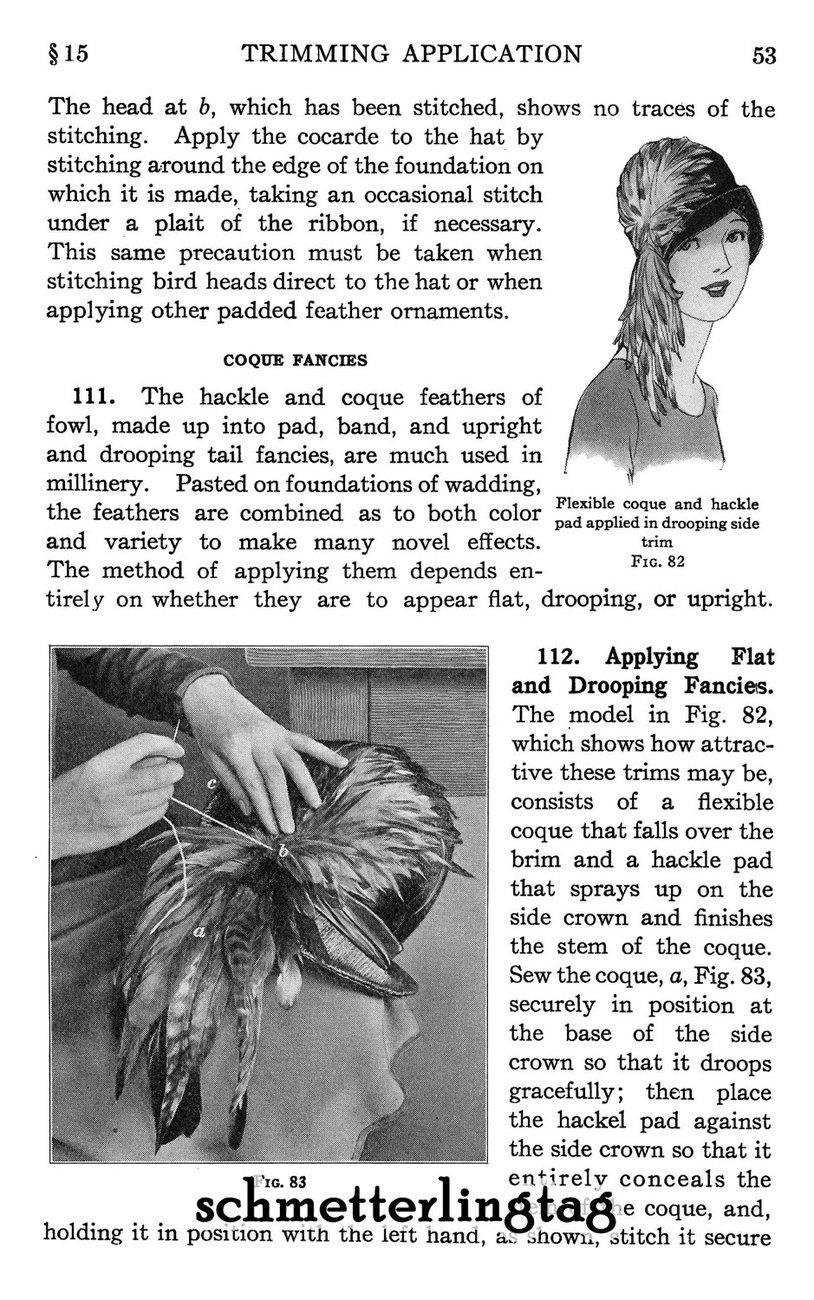Flapper Era Millinery Book Make Hat Trims Making Trimmed Hats 1928