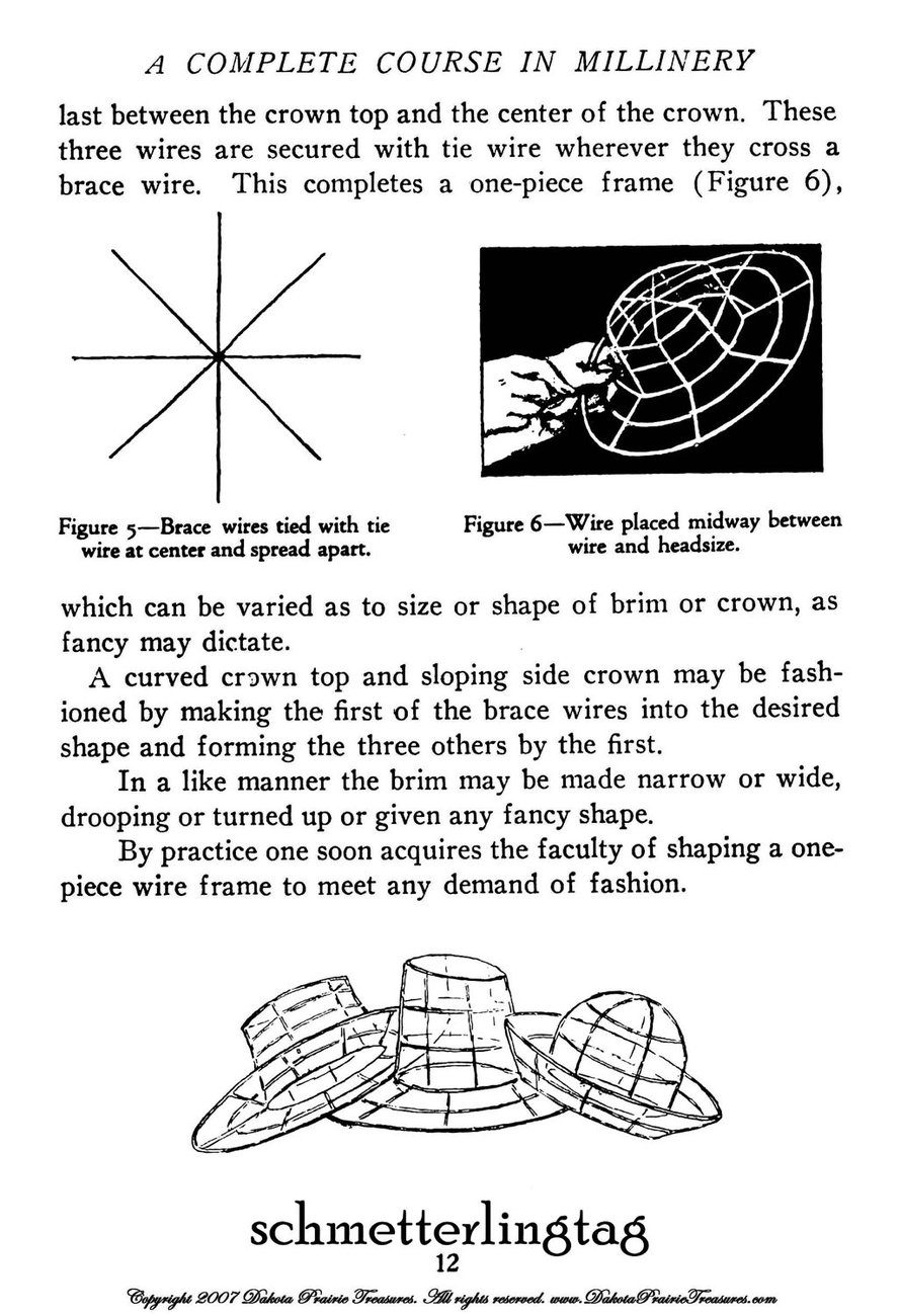 Flapper Era Millinery Book Hat Making How to Make 1920s Hats 1919