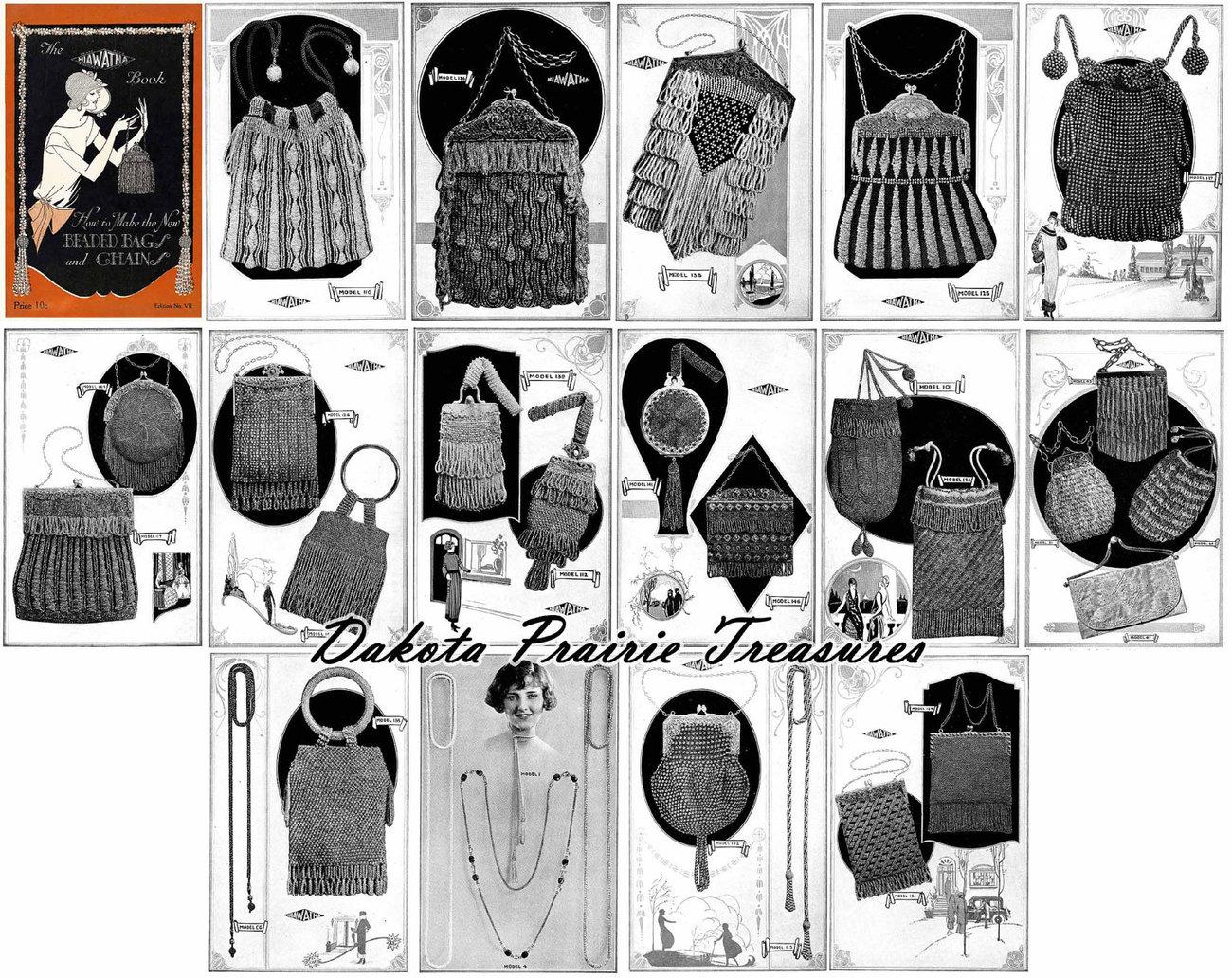 Flapper Era Book Beaded Purses Handbags Knit Crochet Patterns 1924