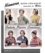 Post-WWII Swing Era Hiawatha Crochet Book Millinery Hats Bags Purse Patt... - $14.99