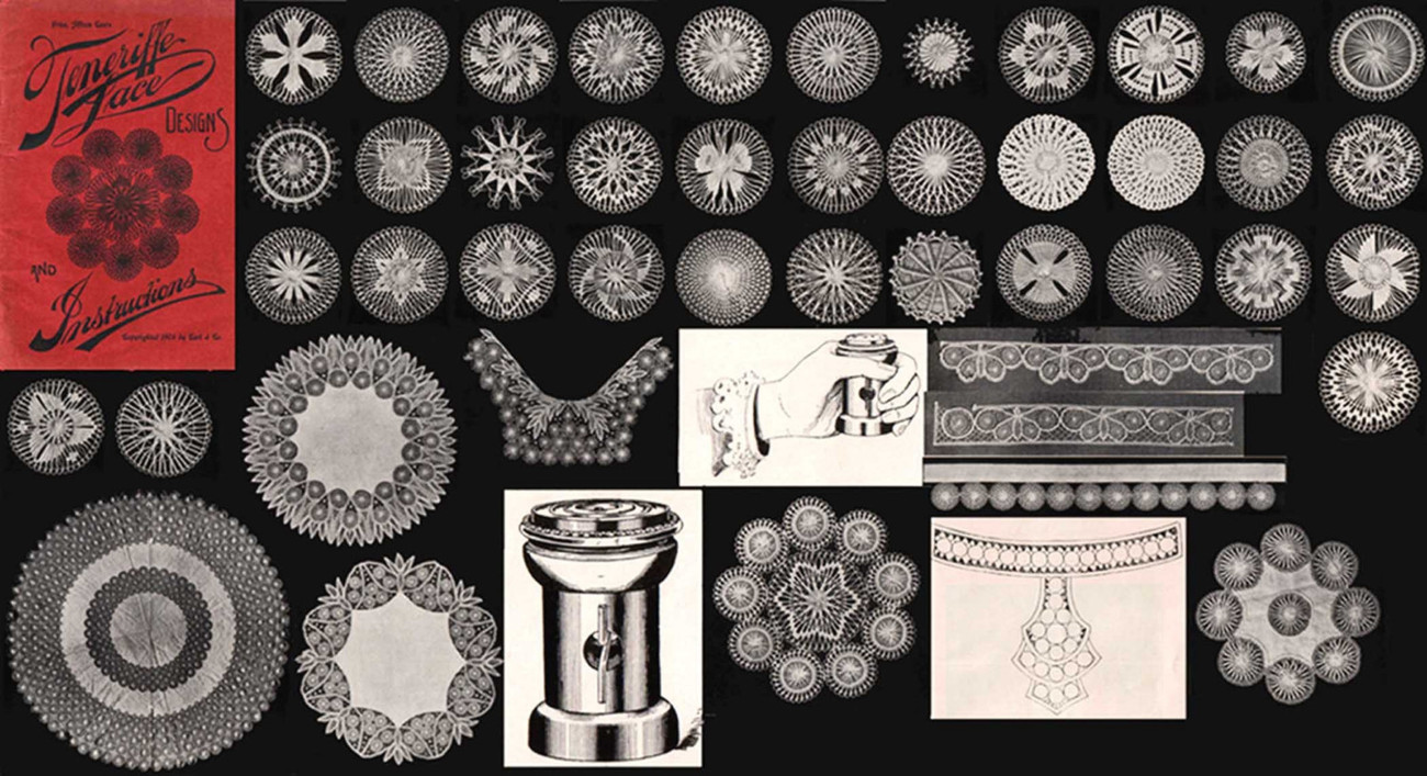Victorian Edwardian Teneriffe Sol Lace Designs Patterns Instructions Book 1904