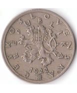 Vintage 50 haler Coin from Czechoslovak Republic 1922 Nice Antique Coin  - €10,75 EUR
