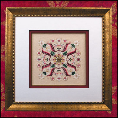 Primary image for Deck The Halls christmas reprint cross stitch chart beads Just Nan