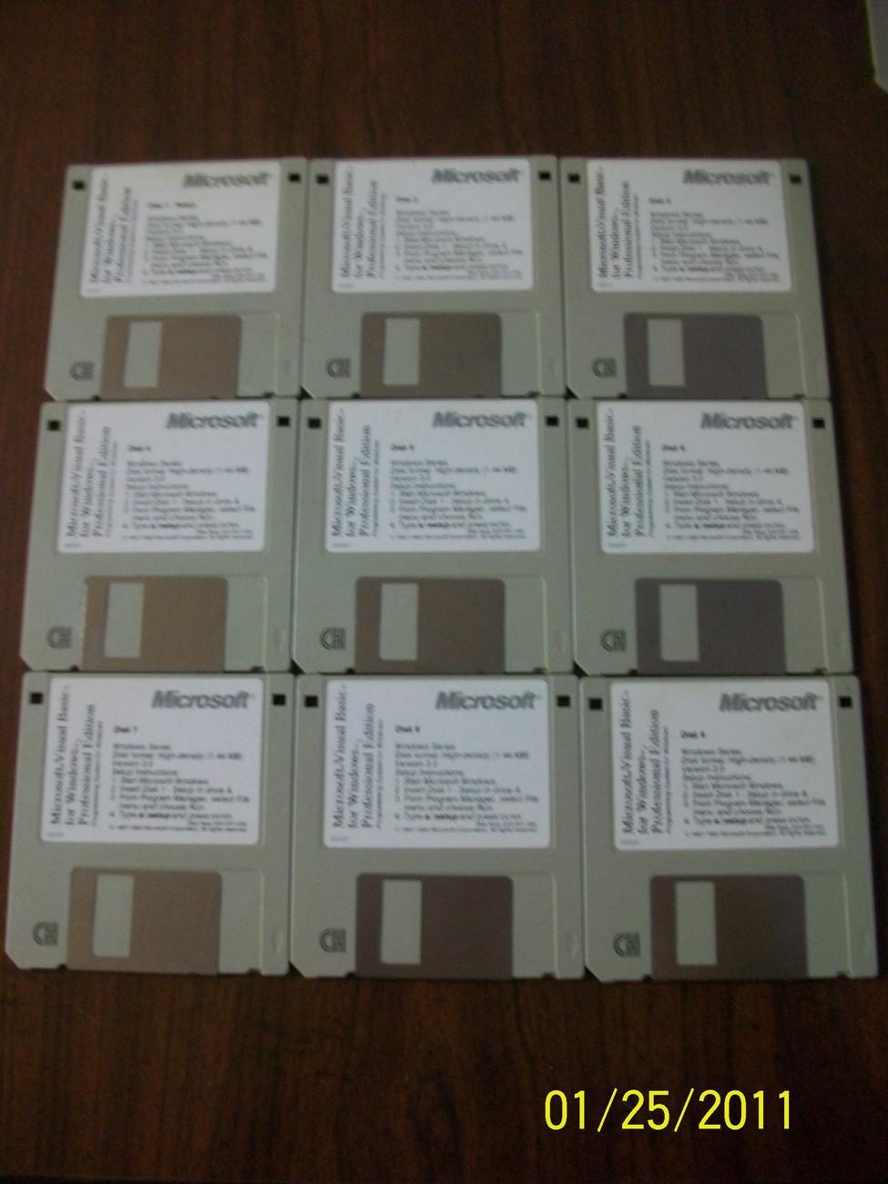 Microsoft Visual Basic for Windows Professional Edition, 9 floppy disks