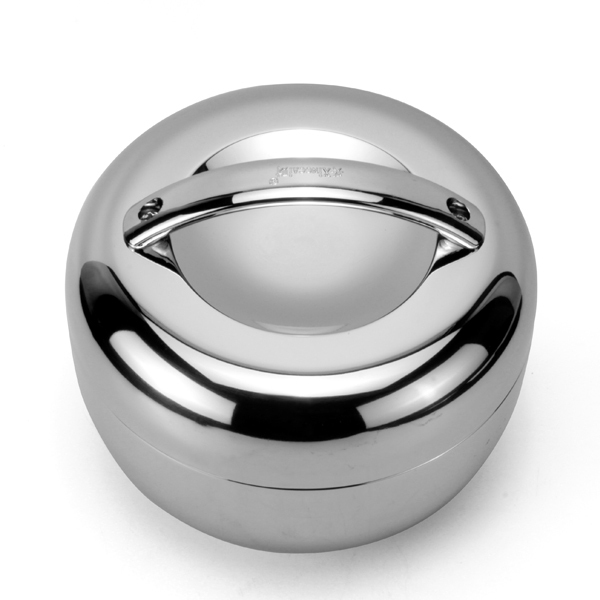Stainless steel 1.0L Apple Shape double-deck lunch