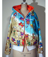 GRATEFUL DEAD Hippie Beach Bears Fur Lined Hoody Jacket - $498.00