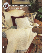 Diamond Shadow Afghan Crochet Pattern Annies Crochet Quilt Afghan Club  - $8.50