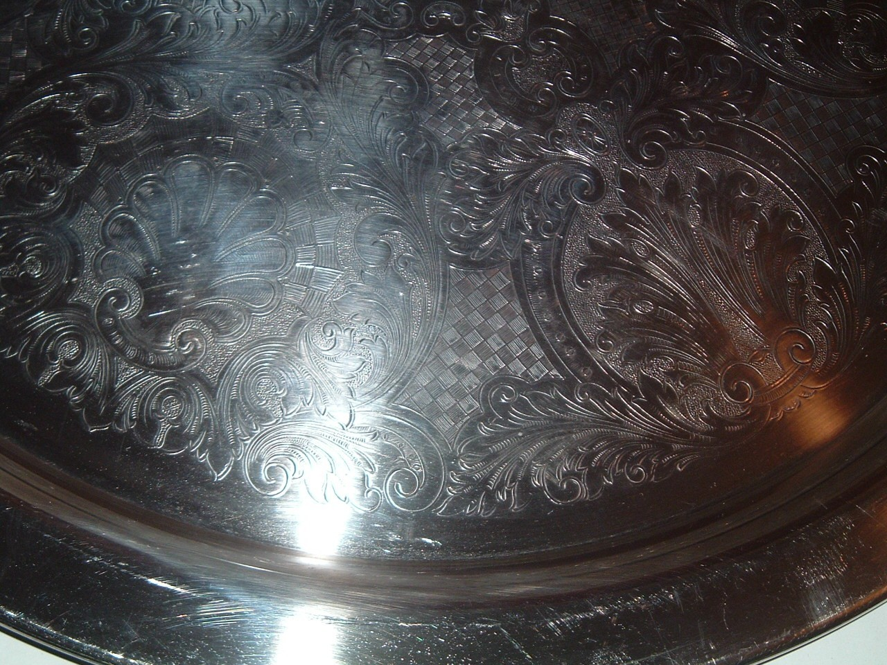 Huge Vintage 19  Inch Silver Plated Tray
