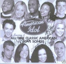 AMERICAN IDOL 2 CAST SIGNED RP PHOTO CLAY AIKEN RUBEN - $14.99