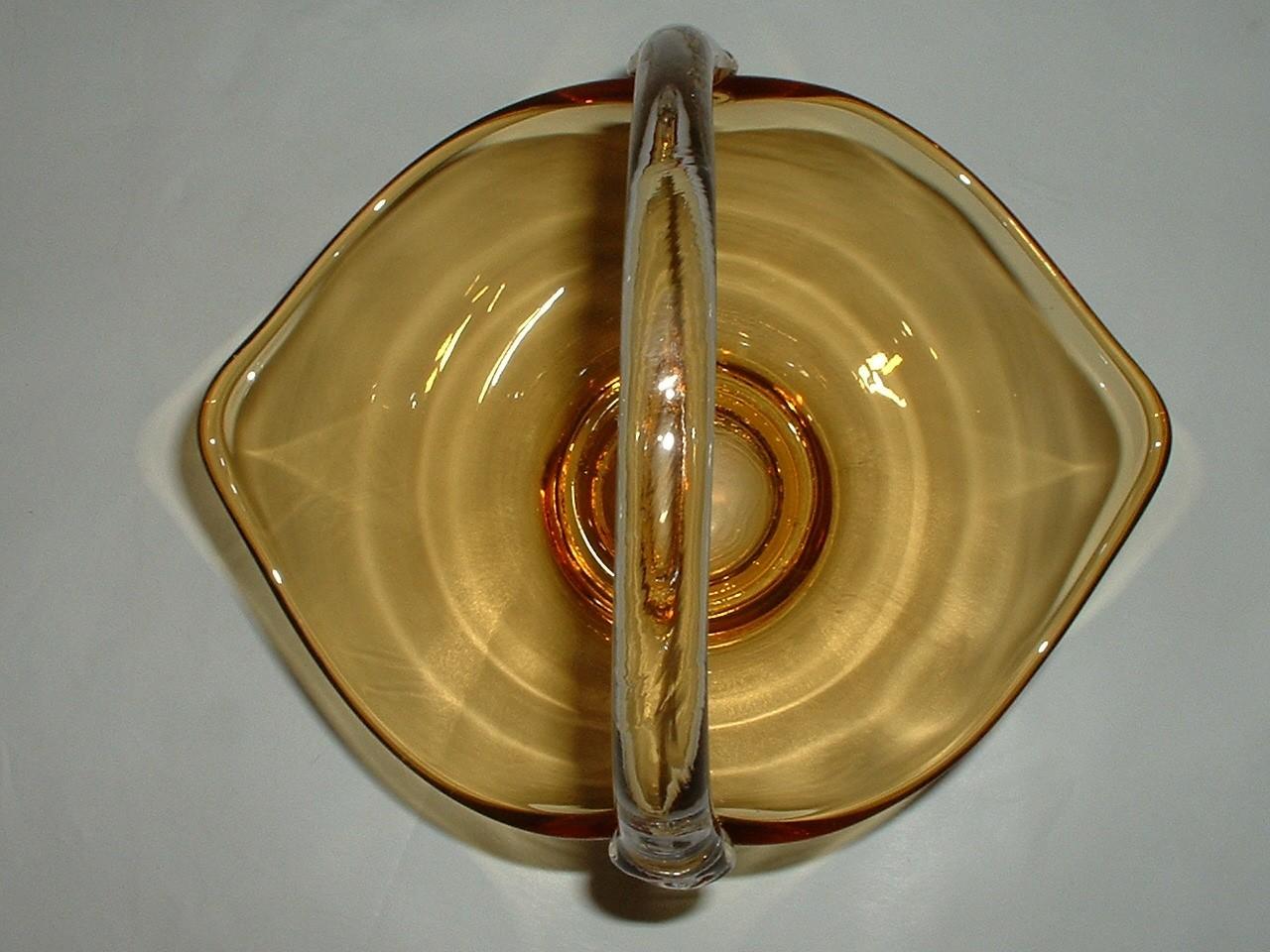 Vintage Art Glass Hand Blown Basket