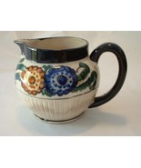 Vintage Colorful  Pottery Chubby Pitcher - $14.00