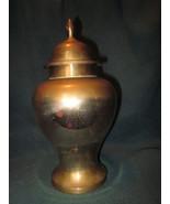 Vintage Brass Urn 9 inches tall Storage Tea Herbs - $24.99