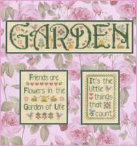 Garden Medley cross stitch chart Elizabeth's Designs  - $8.10
