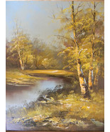 "16"" x 20"" Original  O/C Landscape in Perfectly Matching 23 "" x 27 3/8"" W... - $195.00"