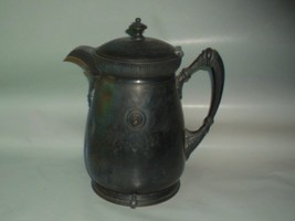 Vintage Antique Pat 1868 Silverplated Enamel Lined Heavy Water Pitcher T... - $45.00