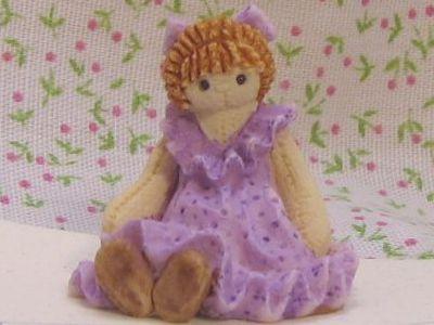 Bonnie franklin ragdoll lav figurine gemjanes dollhouse miniatures 2first