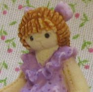 Dollhouse Miniature Toy Rag Doll 1:12 Bonnie Franklin & Friends lav