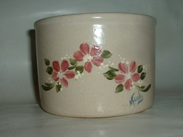 Vintage Ransbottom Pottery Jar Crock with hand ... - $18.00