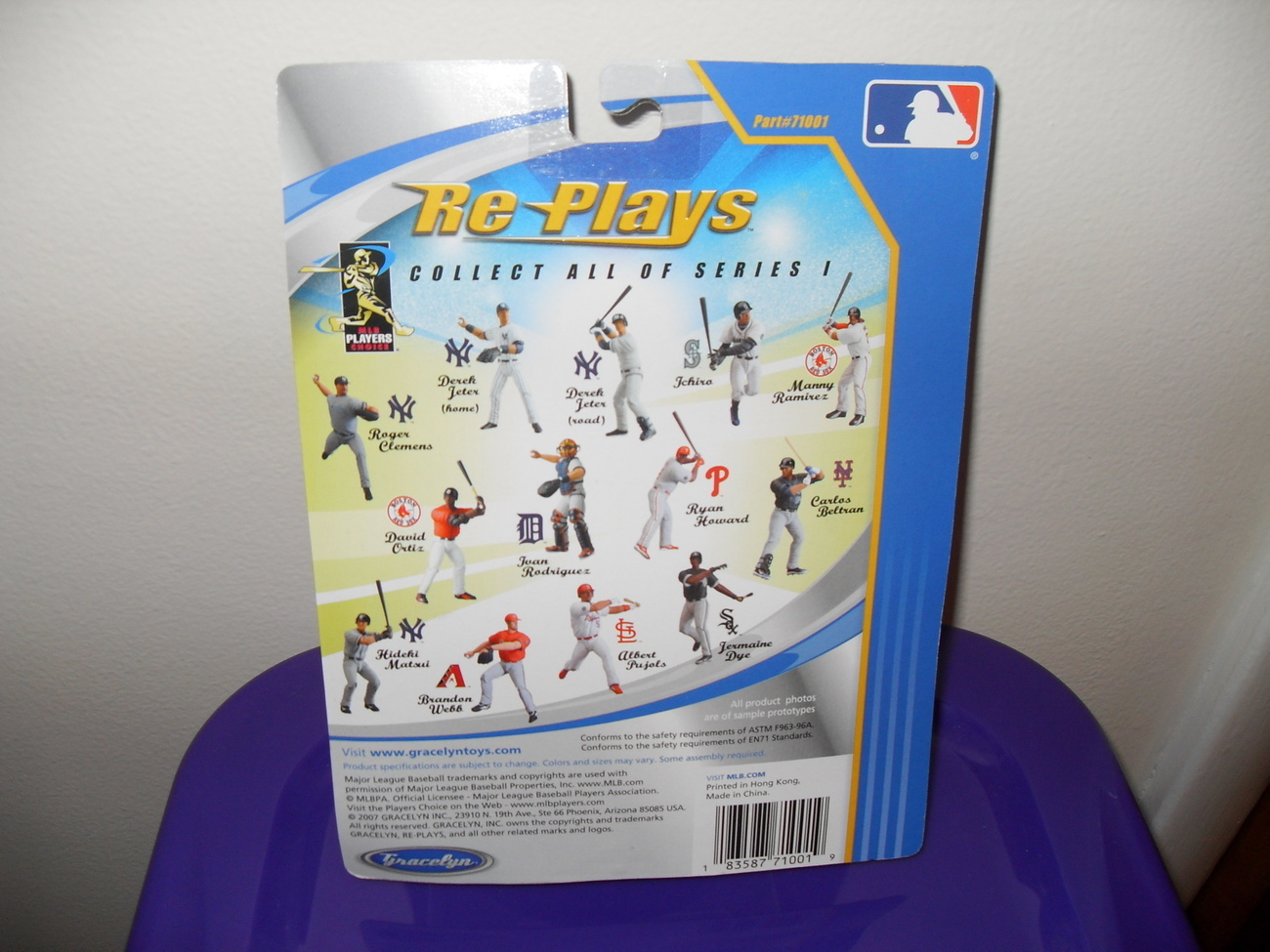 2007  New York Yankees Derek Jeter Figure In The Package