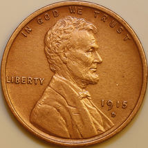 1915 D Lincoln Wheat Cent - AU / Almost Uncirculated - Better Grade - $45.00