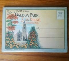Balboa Park San Diego CA Curt Teich Linen Postcard Fold Out Booklet Antique - $23.21
