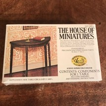 Vintage House of Miniatures Hepplewhite Side Table #40004 X-acto 1980 - $24.74