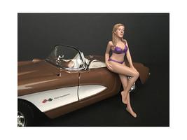 July Bikini Calendar Girl Figurine for 1/18 Scale Models by American Dio... - $17.14