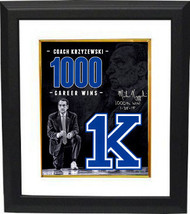 Mike Krzyzewski signed Duke Blue Devils Tribute 16x20 Photo Custom Frame... - $319.95