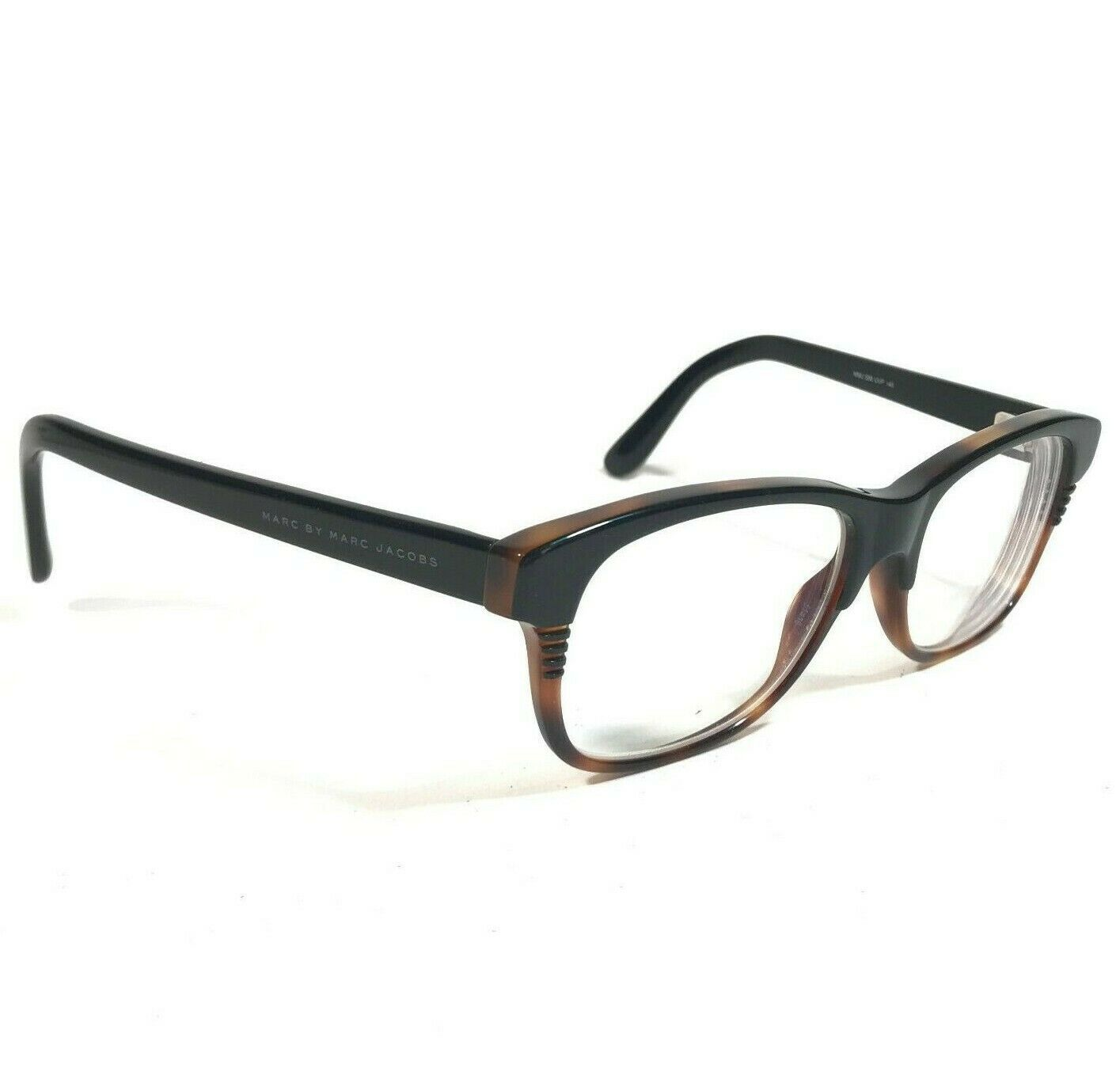 Primary image for Marc by Marc Jacobs Black Brown Rectangular Eyeglass Frames MMJ588 UVP 50 17 145