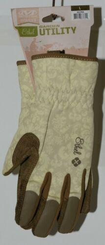 Mechanix Wear 911753 Womens Ethel Large Garden Utility Gloves Yellow Tan 1 Pair
