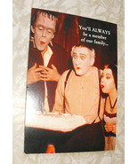 Munsters Greeting Card Unused 1990s or early 2000 Herman Lily Grandpa - $14.99