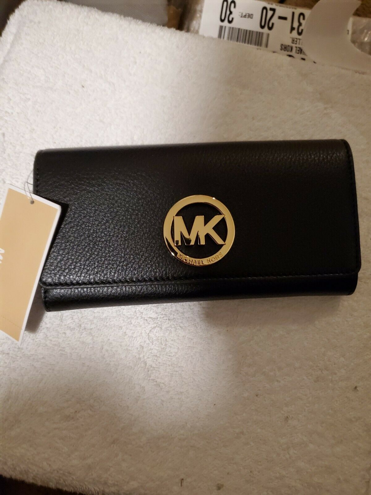 Primary image for Michael Kors Fulton Carryall Wallet $148.00 Black