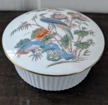 Wedgwood Kutani Crane-Gold Edged Trinket Box - $25.00