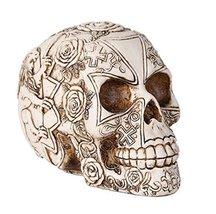 """Templar Knights Skull Heraldry Lion Skull Collectible 6""""H - $24.24"""