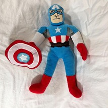 "Marvel Comics Plush Captain America Toy Stuffed Doll w shield 17"" tall - $10.87"