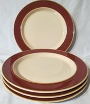 Macy's The Cellar Sunterra Sahara Rust Dinner Plate set of 4 - $29.59