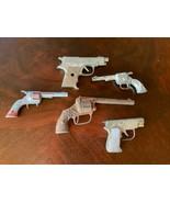 Lot 5 Vtg  toy cowboy cap guns( non working) target hawk deputy hubley s... - $39.99