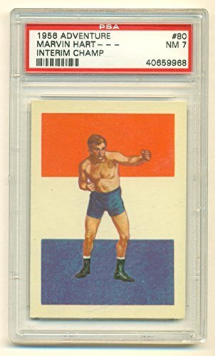1956 Topps Adventure Marvin Hart #80 PSA 7 NM Graded Boxing Card