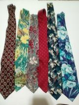 Van Heusen 417 Editions Lot Of 6 Ties Silk Polyester - $11.30