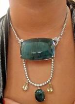 New Chistick Huge 449.7ct Grandidierite beryl diamond Platinum 18k gold ... - $599,999.99