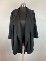 Joan Vass Womens Coat L Large Black  - $98.99