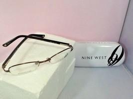 Nine West Women Petite Eyeglass Frames Case NW441 OFJ1 Bronze 47-19-135 Half Rim - $29.99