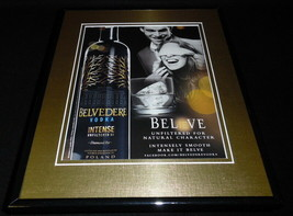 2011 Belvedere Intense Vodka Framed 11x14 ORIGINAL Vintage Advertisement - $32.36