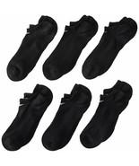Nike Youth Performance Cotton Cushioned No-Show Socks Black 5Y-7Y SX4459... - $24.99