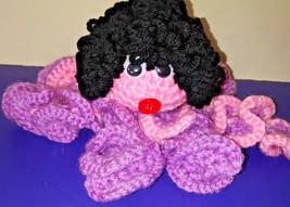 Handmade Amigurumi   Crochet Stuffed Octopus  Girl Doll 6 in - $20.00