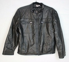 Canyon River Blues youth kids faux leather motorcycle jacket black size ... - $18.99