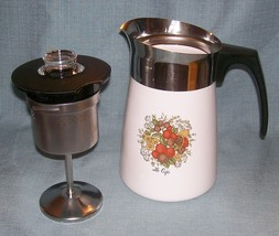Vintage Corning SPICE OF LIFE Stove Top 6 Cup Coffee Pot / Percolator -P146 VGUC image 15