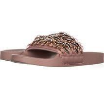 Steve Madden Chains Chain Link Slide Sandals 654, Pink, 7 US - $27.83