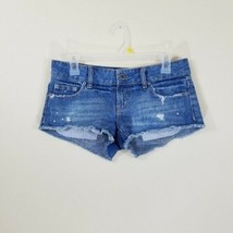 American Eagle Outfitters Women`s Size 2 Denim Distressed Jean Shorts Ra... - $24.74